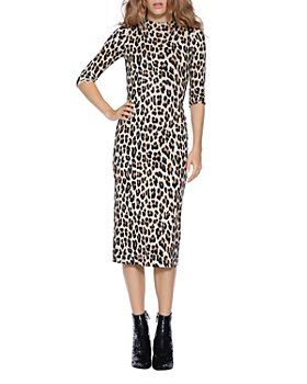 Alice and Olivia - Delora Leopard Print Fitted Dress