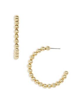 AQUA - Medium Ball Open Hoop Earrings in Gold Tone - 100% Exclusive