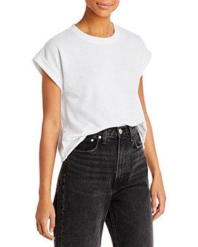 Splendid - Cuffed Short Sleeve Sweatshirt