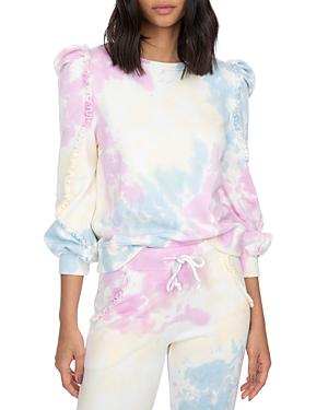 Heidi Ruffled Tie Dyed Sweatshirt