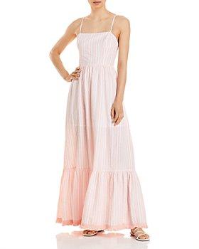 AQUA - Striped Maxi Dress - 100% Exclusive