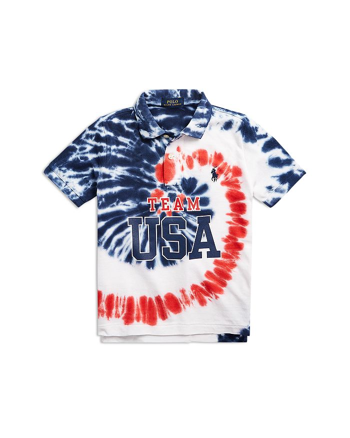 Ralph Lauren - Boys' Team USA Tie Dye Polo Shirt - Little Kid, Big Kid