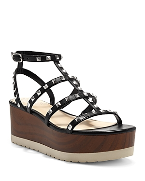 Vince Camuto Women's Pemolie Studded Strappy Faux Leather Platform Sandals