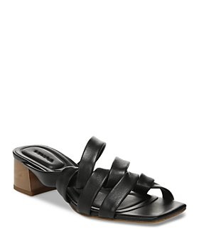 Vince - Women's Tessa Square Toe Wrapped Leather Block Heel Sandals