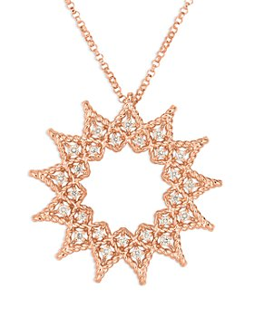 Roberto Coin - 18K Rose Gold Roman Barocco Diamond Pendant Necklace, 18""