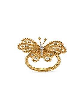 Gucci - 18K Yellow Gold Le Marche Des Merveilles Diamond Ring