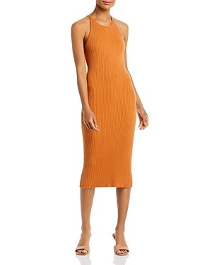 Lori Ribbed Asymmetrical Back Dress