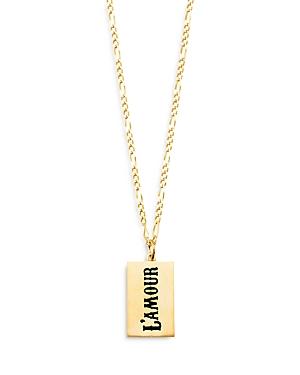 L'Amour Dog Tag Pendant Necklace