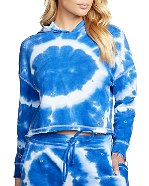 Star Embroidered Tie Dye Hoodie
