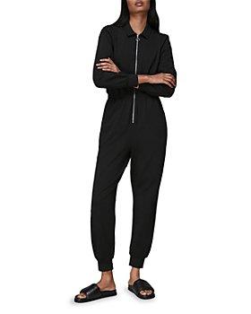 Whistles - Jersey Zip Front Jumpsuit