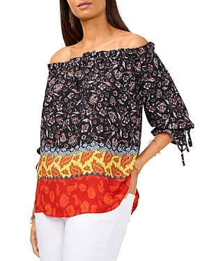 Vince Camuto Mixed Print Top