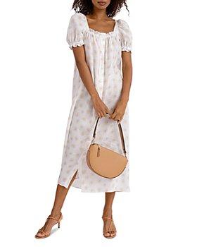 Sleeper - Bridgette Linen Midi Dress
