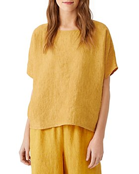 Eileen Fisher - Organic Linen Boxy Fit Top