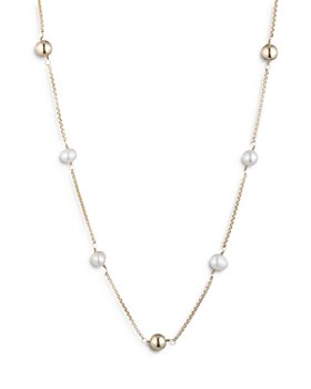 Ralph Lauren - Cultured Freshwater Pearl and Bead Station Necklace, 16""
