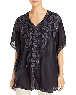 Johnny Was Talia Embroidered Poncho