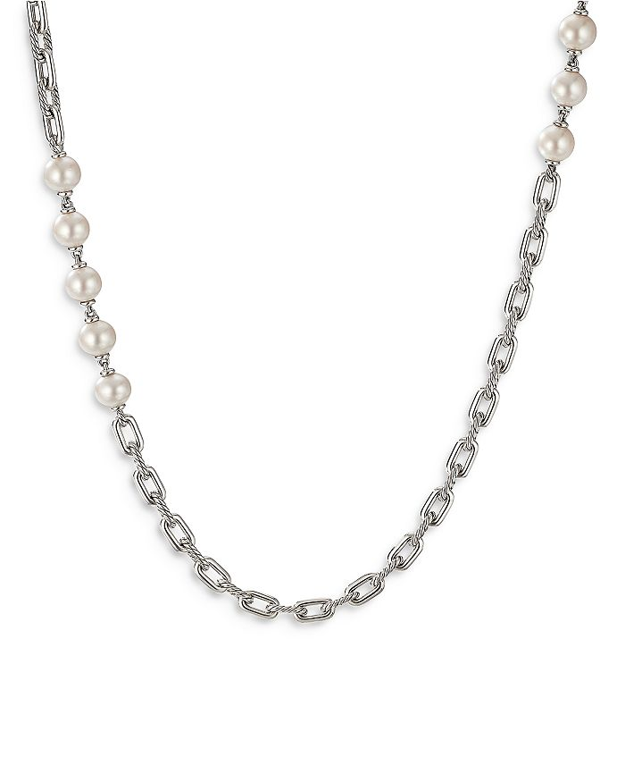 """David Yurman - Sterling Silver DY Madison® Cultured Freshwater Pearl Chain Necklace, 36"""""""