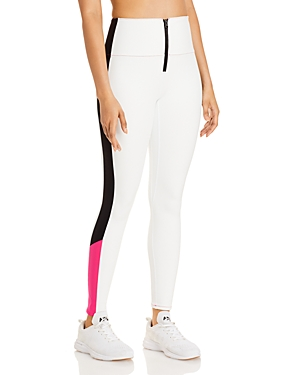 Solid & Striped Soleil Zip Front Leggings