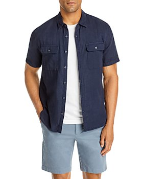 Vince - Slim Fit Garment Dyed Button Front Shirt