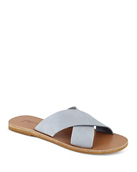 Splendid - Women's Tava Crossover Strap Leather Slide Sandals