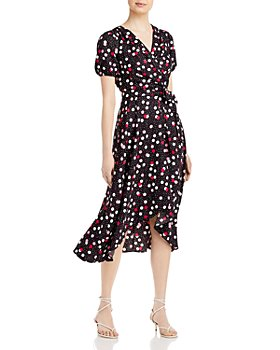 KARL LAGERFELD PARIS - Confetti Print Belted Dress