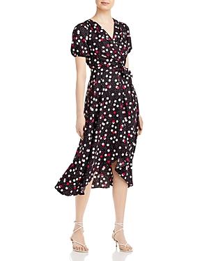 Confetti Print Belted Dress