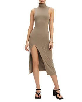 Good American - Mock Neck Midi Dress