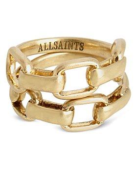 ALLSAINTS - Link Stack Ring Set