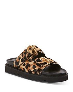 Moschino - Women's Buckled Slide Sandals