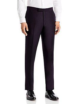 Ted Baker - Josh Dark Purple Textured Solid Regular Fit Tuxedo Pants