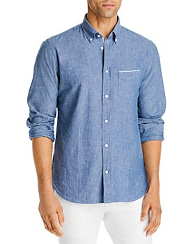 Officine Générale - Chambray Woven Regular Fit Button-Down Shirt