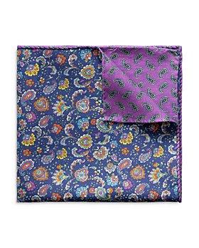Eton - Paisley Print Double Sided Cotton Pocket Square