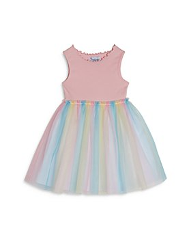 Pippa & Julie - Girls' Rainbow Fit & Flare Dress  - Little Kid