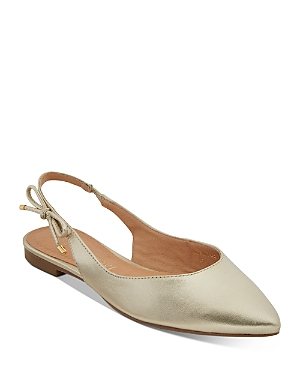 Women's Serena Pointed Toe Slingback Leather Flats
