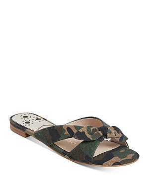 Women's Tilly Tied Crossover Fabric Slide Sandals