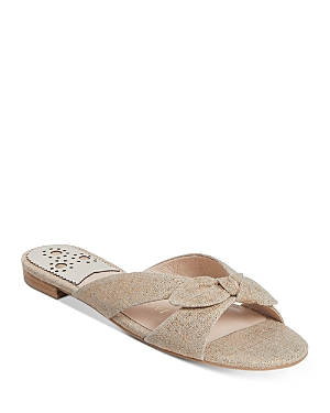 Jack Rogers Women's Tilly Tied Crossover Fabric Slide Sandals