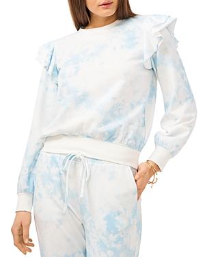 1.state Ruffled Tie Dyed Sweatshirt