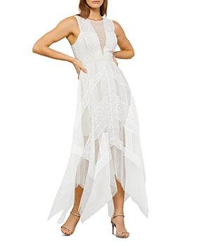 BCBGMAXAZRIA - Andi Lace Trim Evening Dress