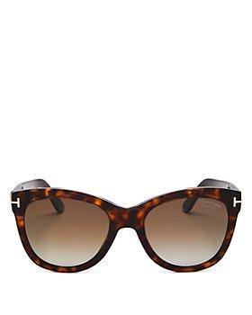 Tom Ford - Women's Wallace Polarized Cat Eye Sunglasses, 54mm