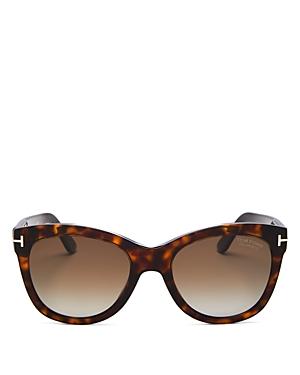 Tom Ford Women's Wallace Polarized Cat Eye Sunglasses, 54mm