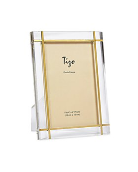 """Tizo - Lucite Frame with Gold Tone Inlay, 8"""" x 10"""""""