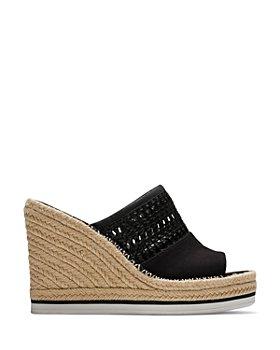 TOMS - Women's Fabric & Basketweave Espadrille Wedge Sandals