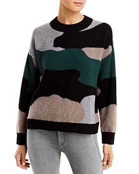 C by Bloomingdale's - Camo Print Cashmere Sweater - 100% Exclusive