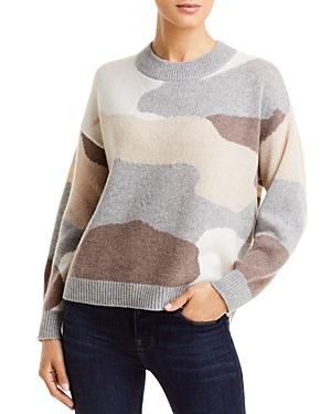 Camo Print Cashmere Sweater