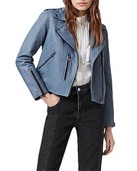 ALLSAINTS - Fern Leather Biker Jacket