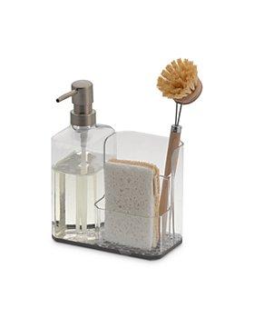 Spectrum - Hexa Sink Sponge & Brush Organizer with Soap Pump