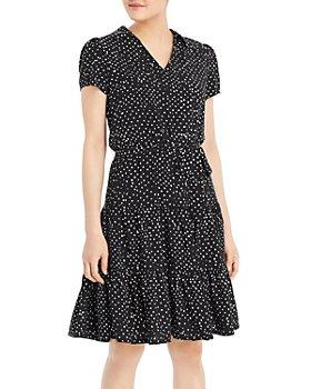 T Tahari - Polka Dot Tiered Dress