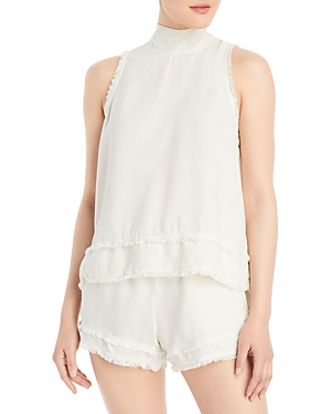 Frayed Tie Back Top