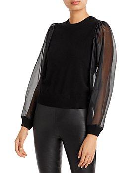 AQUA - Chiffon Sleeve Sweater - 100% Exclusive