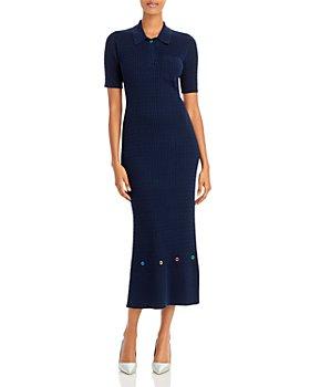 STAUD - Cecily Cable Knit Midi Dress