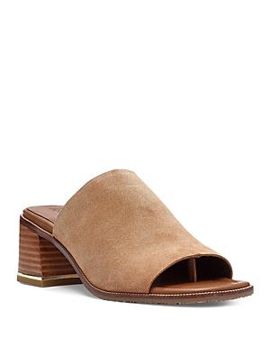 Women's Square Toe Mid Heel Mules